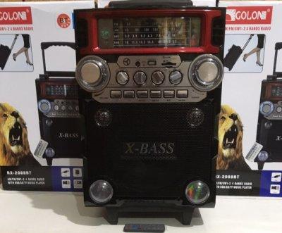Колонка комбик усилитель Bluetooth с беспроводным микрофоном Golon X-BASS RX2088BT-S (zag0329)