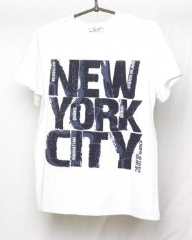Футболка Linkoff белая принт New York City