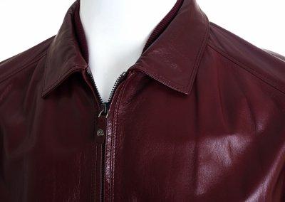 Шкіряна куртка Pal Zileri червона 38121/24