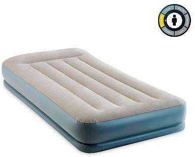Надувне ліжко Intex Mid-Rice Airbed 99 х 191 х 30 см Сіре (64116)