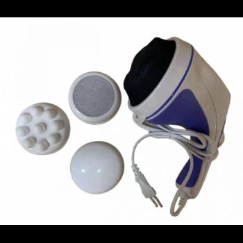 Ручний вібромасажер Relax and Spin Tone Pro антицелюлітний електромасажер релакс тон для всього тіла масажер з насадками (0634)