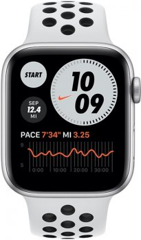 Смарт-годинник Apple Watch Series 6 Nike GPS 44mm Silver Aluminum Case with Pure Platinum/Black Nike Sport Band (MG293UL/A)