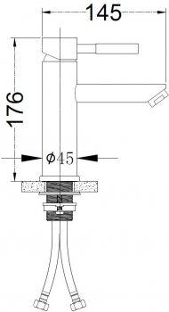 Змішувач для раковини SILVER Quantum SLIN0490