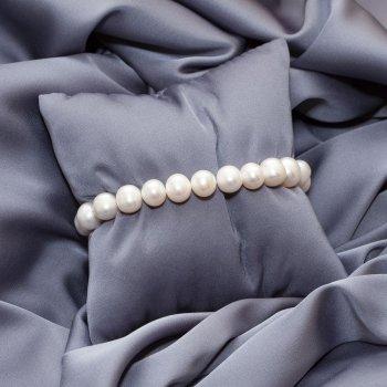 Браслет с натуральным речным жемчугом 17 см Pearl b White 10