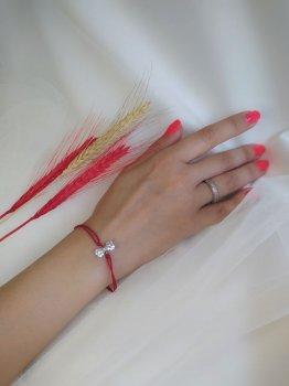 Браслет красная нить с бантиком 21 000 R3800