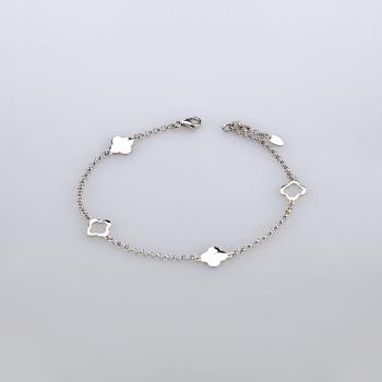 Серебряный браслет с подвесками клевер cava.cool размер из родированного серебра 925-й пробы (521942201)