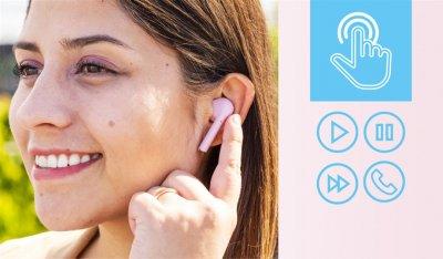 Наушники TRUST Nika Touch True Wireless Mic Pink (23704)