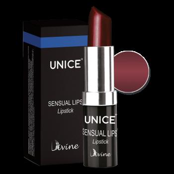 Увлажняющая помада для губ Unice Divine бордовый SL08, 4.2 г
