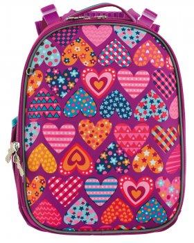 """Рюкзак школьный каркасный 1 Вересня H-25 """"Heart puzzle"""""""
