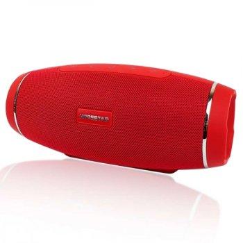 Портативна блютуз колонка Hopestar H27 SPEAKER Червона 10 ВТ бездротова з флешкою радіо і стерео звуком Bluetooth 4.1 підсвічування USB (46993 I)