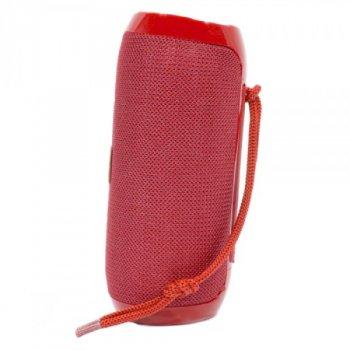 Портативна блютуз колонка T&G TG-117 SPEAKER Червона 10 ВТ бездротова з флешкою радіо та слотом для карти Bluetooth 4.2 USB вологостійка (47247 I)