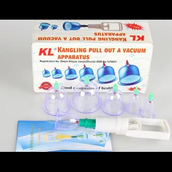 Вакуумные банки Vacuum Premium массажные домашней терапии для всего тела, лица и шеи 6 штук