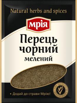 Упаковка спецій Мрія Перець чорний мелений 20 г х 38 шт. (4820154832991)