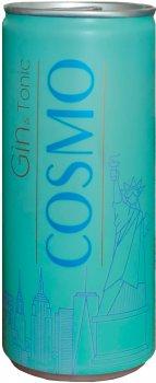 Упаковка слабоалкогольного напитка COSMO Gin&Tonic 4.5% 0.25 х 24 шт (5902854102686G)