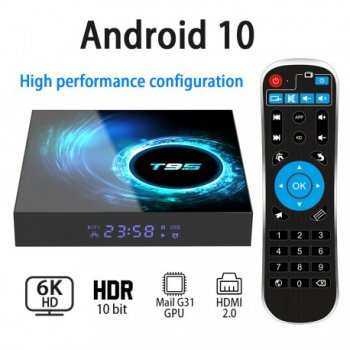 Смарт ТВ приставка T95 H616 2/16 GB - Android 10 TV BOX