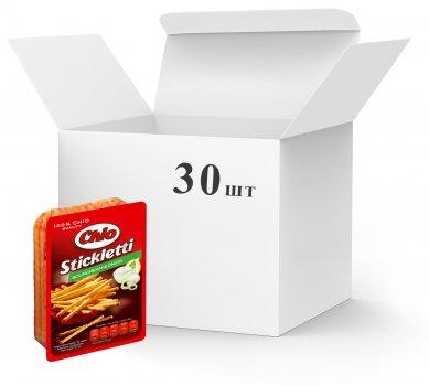 Упаковка соломки Chio Stickletti соленая со вкусом сметаны и лука 80 г х 30 шт (5996253000896)