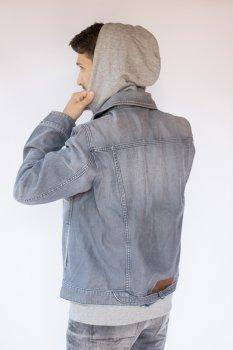 Куртка джинсова чоловіча Сіра