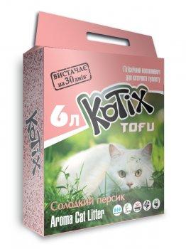 Наполнитель для кошачьего туалета Kotix Тофу Honey Peach Соевый комкующий 2.55 кг (6 л) (6972345440046)