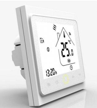 Терморегулятор Castle Wi-Fi White сенсорний програмований для теплої підлоги