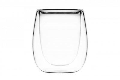 Набор чашек для эспрессо с двойными стенками 2 шт (AR-2608-G-mg)