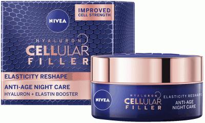 Ночной крем Nivea Hyaluron Cellular Filler для повышения эластичности кожи 50 мл (4005900600806)