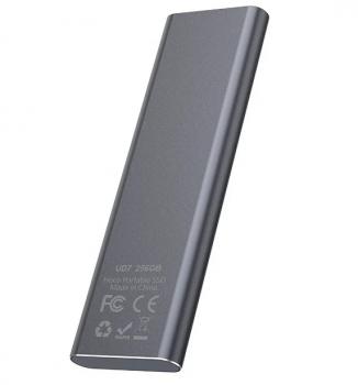 Зовнішній накопичувач SSD Type-C HOCO UD7 256GB Grey