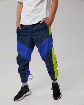 Спортивные штаны Over Drive Split сине-салатовые