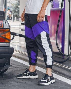 Спортивные штаны Over Drive Split черно-фиолетовые