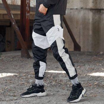 Спортивные штаны Over Drive Split черно-белые с рефлективом
