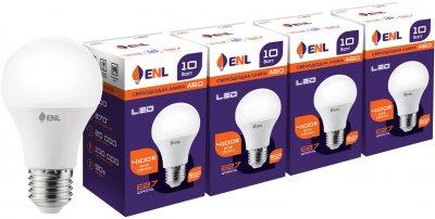 Светодиодная лампа ENL A60 10 Вт 4100K E27 (A60E2710ENLNR) 4 шт