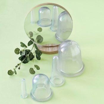 Набор массажных силиконовых банок (4 шт./уп., ассорти) chudesnik (чудесник) вакуумные банки для лица и тела (1007797-Other-1)