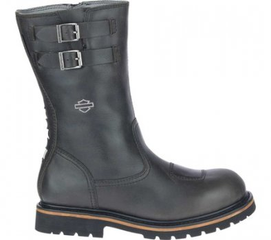 "Мужские сапоги Harley-Davidson Brosner 10"" Pull On Waterproof Motorcycle Boot Black Waterproof Full Grain Leather (150929)"