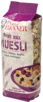 Упаковка мюсли Doctor Benner Fruit mix 300 г х 3 шт (20132581033)