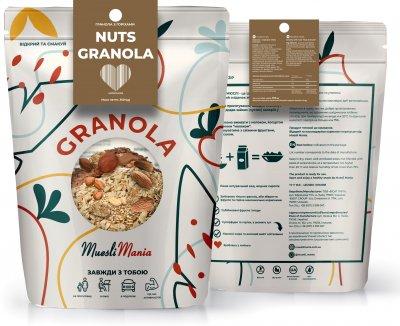Гранола с орехами Muesli Mania Nuts Granola 350 г (482022014272_4820220140296)