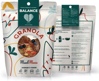 Гранола с ягодами и семенами Muesli Mania Balance 350 г (4820220140302)