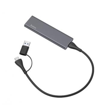 Внешний накопитель 512GB SSD Type-C HOCO UD7 серый