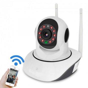 IP-Камера видеонаблюдения Wi-Fi панорамная с поворотом на 360 градусов, ночная съемка