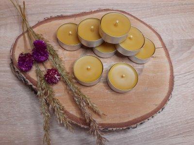 Свеча чайная из натурального пчелиного воска Zigrivay (10001)