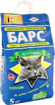 Упаковка наполнителя для кошачьего туалета Барс №2 Бентонитовый комкующий 5 кг 4 шт (4820031330053)