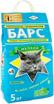 Упаковка наполнителя для кошачьего туалета Барс №5 Бентонитовый комкующий 5 кг 4 шт (4820031330077)