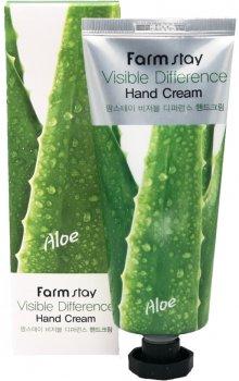 Крем для рук FarmStay Visible Difference Hand Cream Aloe с алоэ 100 г (8809636280495)