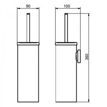 Ершик Q-tap для унитаза 1150 Liberty CRM