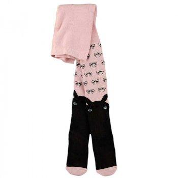 Махровые колготки теплые для девочки BROSS 17948 98 - 104 см розовый с серым (413504)