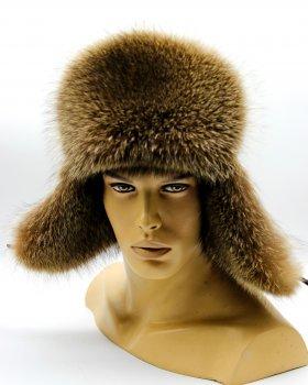 "Мужская меховая шапка ушанка из меха из Енота VECONS ""Молодежка"" One size"