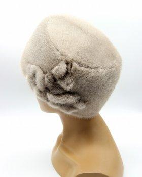 """Женская норковая шапка кубанка VECONS """"Долли"""" One size сапфир"""