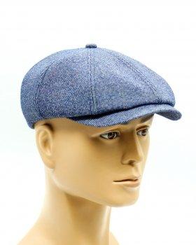 Мужская кепка восьмиклинка демисезонная VECONS One size голубая