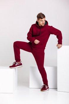 Спортивный костюм мужской теплый WB худи и штаны размер (WB Shop) бордовый