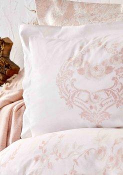 Комплект постельного белья Karaca Home Quatre Royal Сатин Pudra 200х220 Пудра (svt-2000022254489)