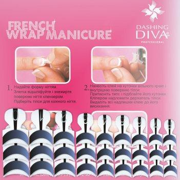 Набір типсів для френча Dashing Diva French Wrap Plus Thick Satin Graphite Trial Size 28 шт. (0961000000172)