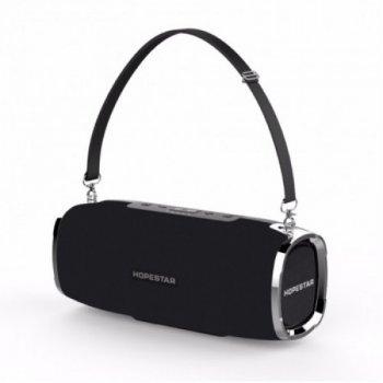 Потужна портативна акустична 2.1 бездротова Bluetooth Блютуз колонка з сабвуфером Hopestar A6 Black
